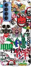 "Чехол на Oppo Reno 4 Pro Many different logos ""4022u-2024-2448"""
