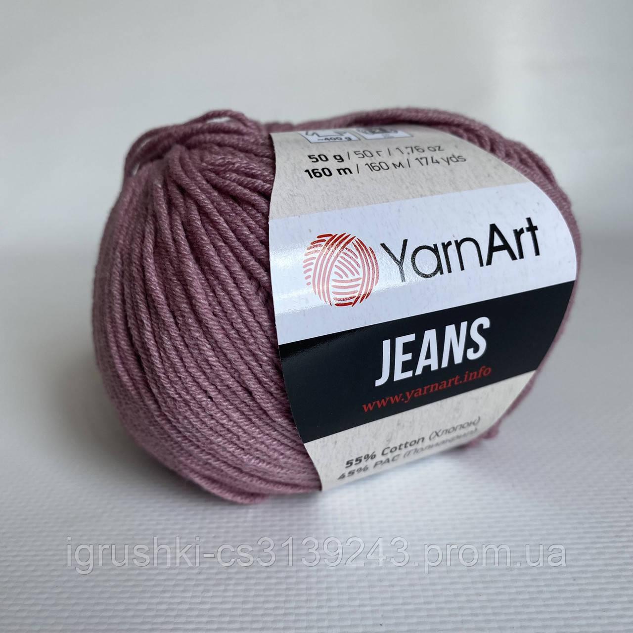 YarnArt Jeans (ярнарт джинс) 83 Пильна троянда