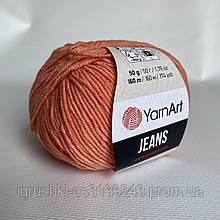 YarnArt Jeans (ярнарт джинс) 23 Рыжий
