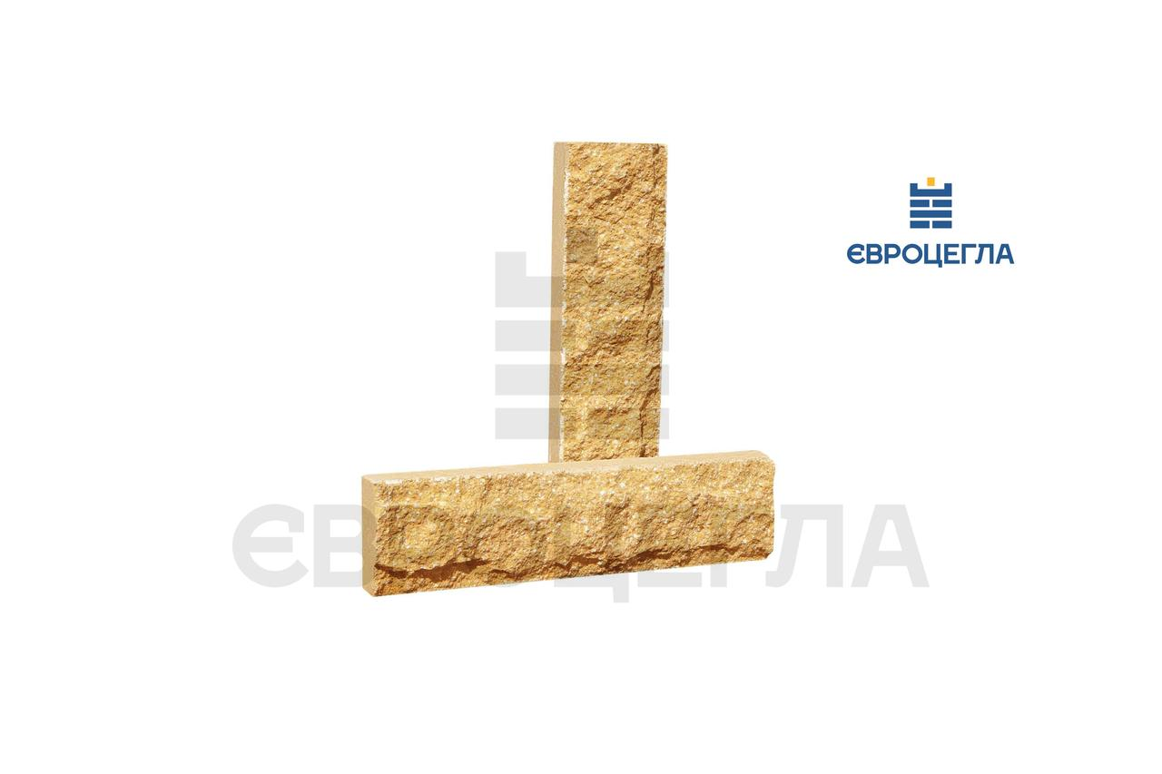 Плитка декоративная скала, слоновая кость, размер 250Х20Х65мм