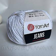 YarnArt Jeans (ярнарт джинс)  01 Белый