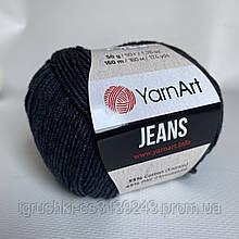 YarnArt Jeans (ярнарт джинс)  28 Черный