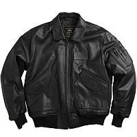 Кожаная летная куртка LEATHER CWU 45/P FLIGHT JACKET Alpha Industries