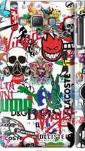 "Чехол на Samsung Galaxy A7 A700H Many different logos ""4022c-117-2448"""