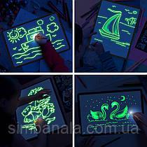 "Набор для рисования светом ""Малюнок світлом"", двухсторонний планшет формата А3(42х30см)"