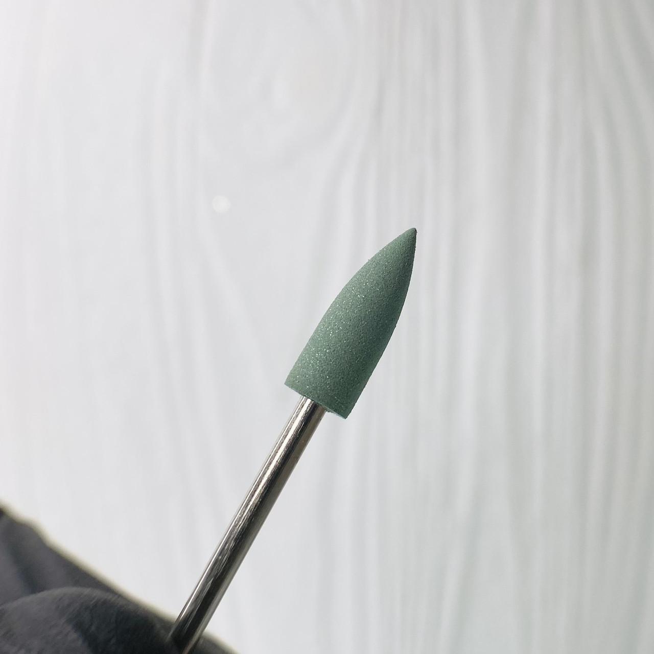 Фреза для манікюру полірувальник силікон-карбідний зелений