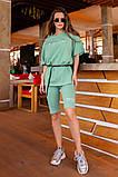 Женский летний костюм двойка велосипедки шорты+футболка размер универсальный 42-46, фото 3