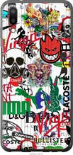 "Чехол на Meizu E3 Many different logos ""4022u-1518-2448"""