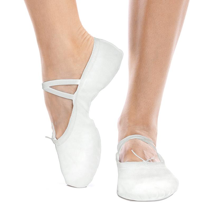 Балетні тапочки - балетки білі концертні без нашивок ЕЛІТ OB-1868 розмір 32