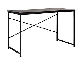 Компьютерный стол Forward ножки черные столешница ДСП черная (Новый Стиль ТМ)