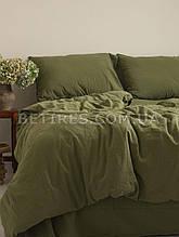 Набір (підковдра+наволочка) 200x220 LIMASSO CAPULET OLIVE STANDART оливковий