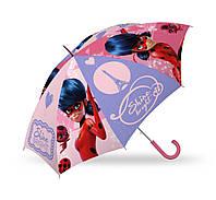Детский зонтик трость Леди Баг и Супер кот полуавтомат 55 см