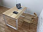 Дерев'яний офісний стіл з ясена 120х70, фото 7