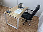 Дерев'яний офісний стіл з ясена 120х70, фото 5