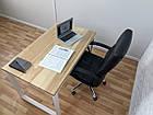 Дерев'яний офісний стіл з ясена 120х70, фото 4
