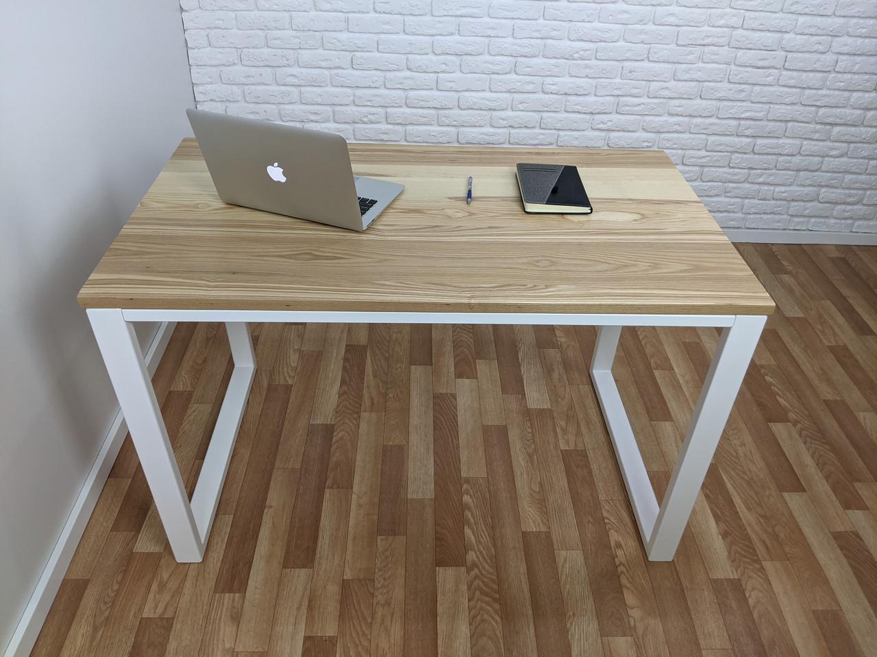 Дерев'яний офісний стіл з ясена 120х70