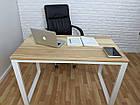 Дерев'яний офісний стіл з ясена 120х70, фото 3