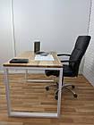 Дерев'яний офісний стіл з ясена 120х70, фото 2