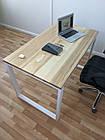 Дерев'яний офісний стіл з ясена 120х70, фото 6