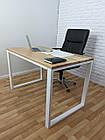 Дерев'яний офісний стіл з ясена 120х70, фото 9