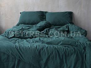 Набір (підковдра+наволочка) 200x220 LIMASSO DARK GREEN STANDART зеленый