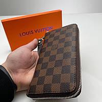Кошелёк мужской Louis Vuitton Портмоне премиум качества коричневый