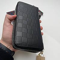 Кошелёк мужской Louis Vuitton Портмоне премиум качества Черный