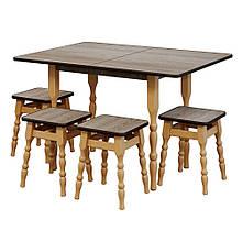 Набор стол  кухонный ДСП  раскладной, 850 * 600/1200 * 750 мм  +  4 табурета, 300*300*450 мм