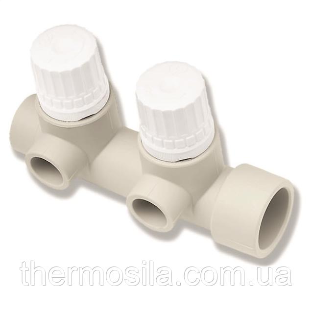 Коллектор с термостическими вентилями, двойной d 20/32 , Ekoplastik, опт и розница