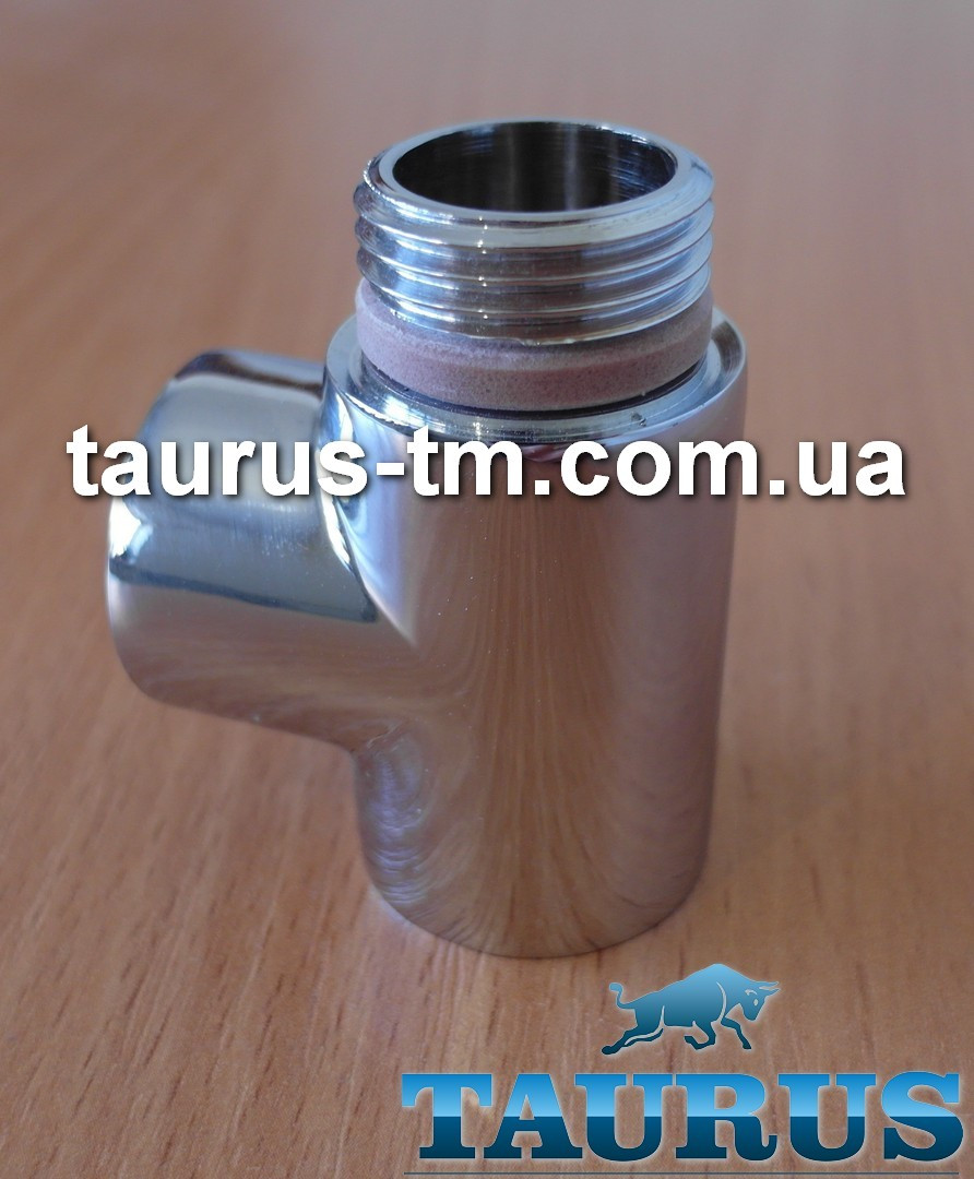 """Трійник Premium хром 1/2"""" з ущільнювальним кільцем для рушникосушок комбінованих (електро+вода)"""