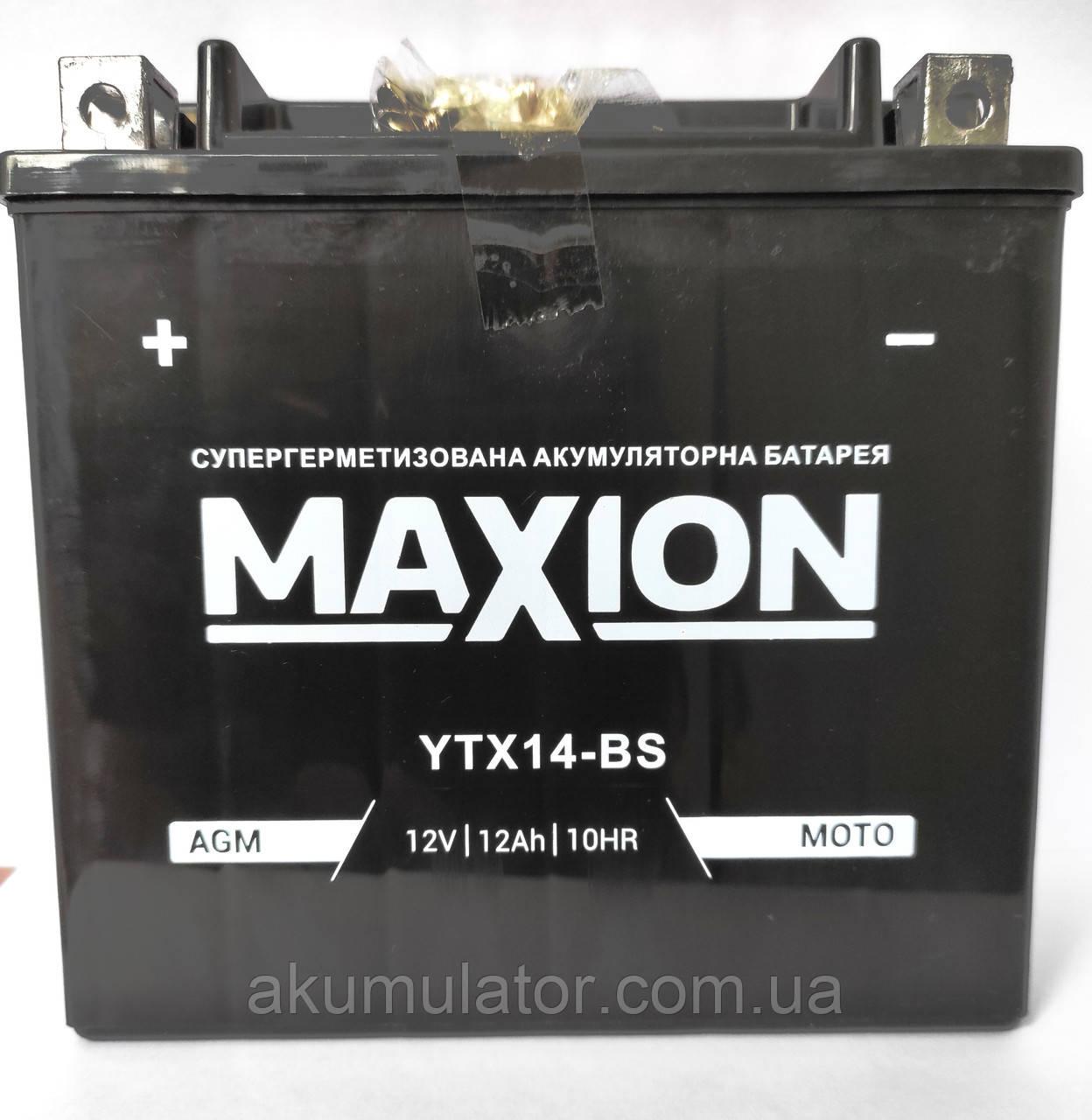 Акумулятор МОТО AGM (чорний) 12V 12Ah (YTX14-BS)