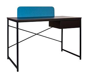 Компьютерный стол Forward с ящиком ножки black столешница ДСП черная, экран GD-05 (Новый Стиль ТМ)