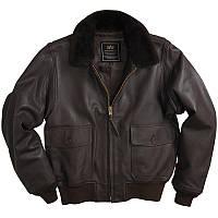 Кожаная куртка-пилот G-1 LEATHER JACKET (ALPHA INDUSTRIES)