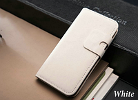 Белый чехол-книжка на iphone 5/5S из эко-кожи