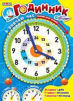 Ранок Світогляд Я вивчаю час Годинник 2980 Синій