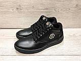 Мужские кеды туфли Philipp Plein черные кожаные 42 размер, фото 2