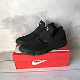 Чоловічі кросівки Nike чорні з гумками 40 розмір, фото 2