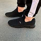 Чоловічі кросівки Nike чорні з гумками 40 розмір, фото 4