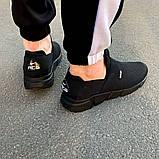 Чоловічі кросівки Nike чорні з гумками 40 розмір, фото 5