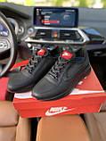 Чоловічі кросівки Nike на чорні шкіряні шнурівки, фото 2