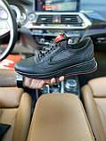 Чоловічі кросівки Nike на чорні шкіряні шнурівки, фото 3