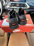 Чоловічі кросівки Nike на чорні шкіряні шнурівки, фото 4