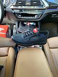 Чоловічі кросівки Nike на чорні шкіряні шнурівки, фото 5