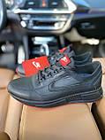 Чоловічі кросівки Nike на чорні шкіряні шнурівки, фото 6