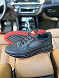 Чоловічі кросівки Nike на чорні шкіряні шнурівки, фото 7