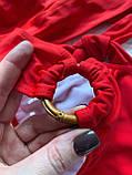 Жіночий роздільний купальник з ліфом на запах червоний, фото 5