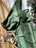 Женский слитный купальник на одно плечо цвета хаки, фото 7