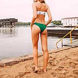 Женский раздельный купальник бандо на подкладе со съемными чашечками, фото 6