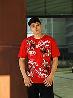 Красная футболка мужская OLD SCHOOL | Турция | трикотаж супрем