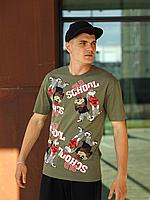 Хакі футболка чоловіча OLD SCHOOL   Туреччина   трикотаж супрем, фото 1